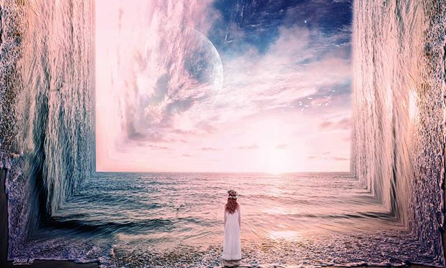 """Photo art """"inception""""  Prints and full size image also available on schluterart.com  #art #photoart #digitalart #digitalartist #sunset #ocean #clouds #space#planet #moon #stars #beach #wave #girl #life #inception #instagood #instaart #photomanipulation #photography #freelance #prints #artprints #printsforsale #canvasart"""