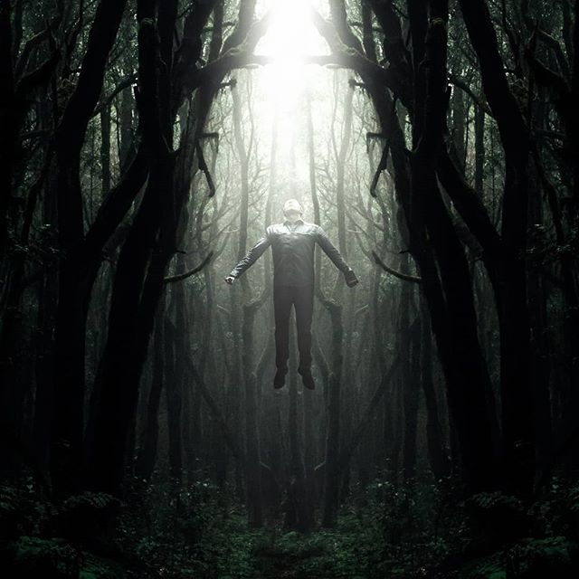 "Photo art ""From the Depths""  Prints and full size image also available on schluterart.com  #art #photoart #digitalart #digitalartist #levitate #forest #man #flying #rising #light #dark #fantasy #unreal #wonder #surrealism #surreal #fineart #instagood #instaart #photomanipulation #photography #freelance #prints #artprints #printsforsale #metalprints #canvasprints #photoshop #wacom"