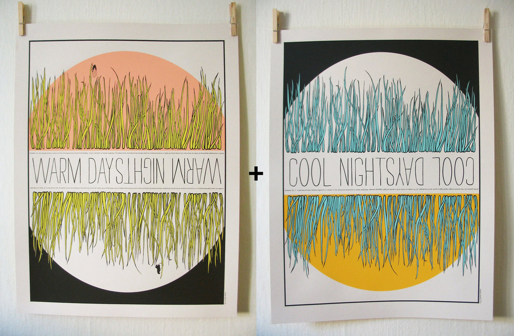 "2 Prints -  18"" X 24"" - Standard Frame Size   80 LB Cover - Hand Screen Printed    $45.00"