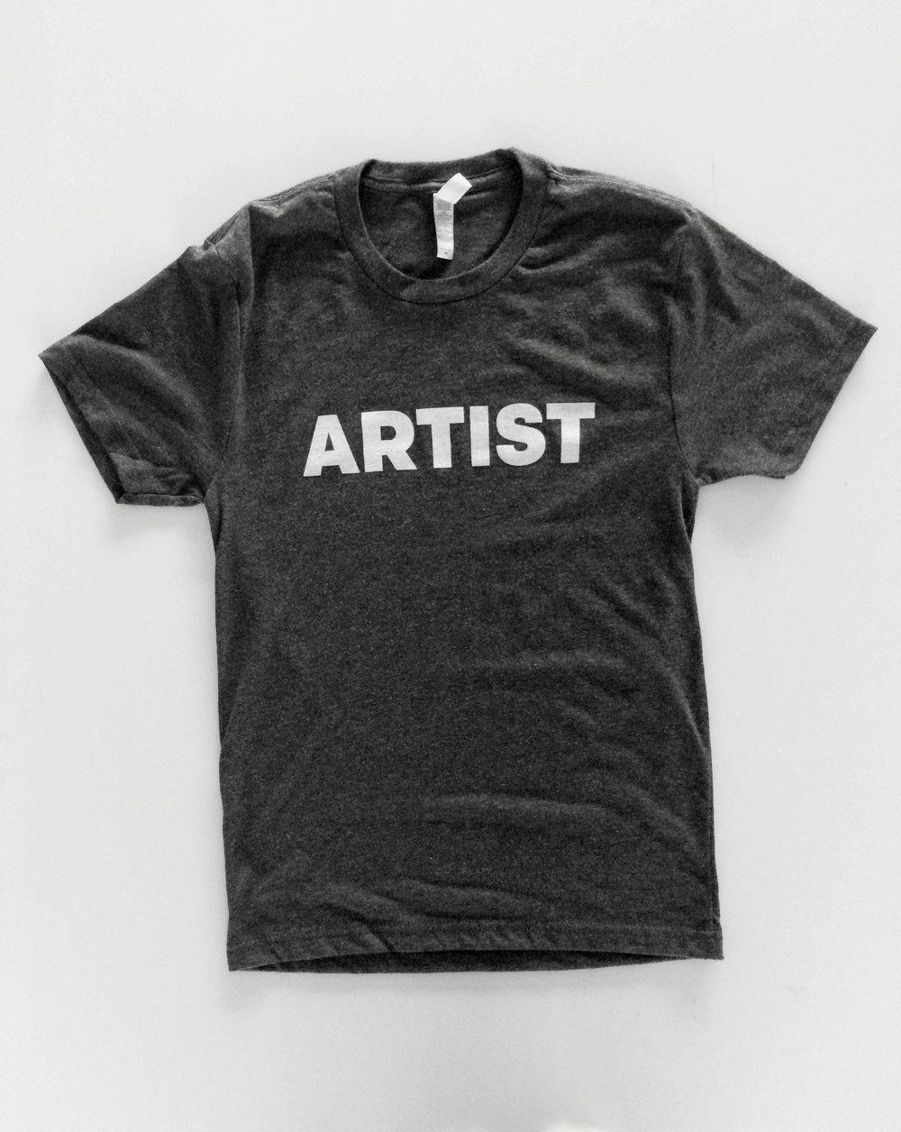 ARTIST Shirt. Soft, lightweight, 'Vintage Navy' T-shirt.  $18.00