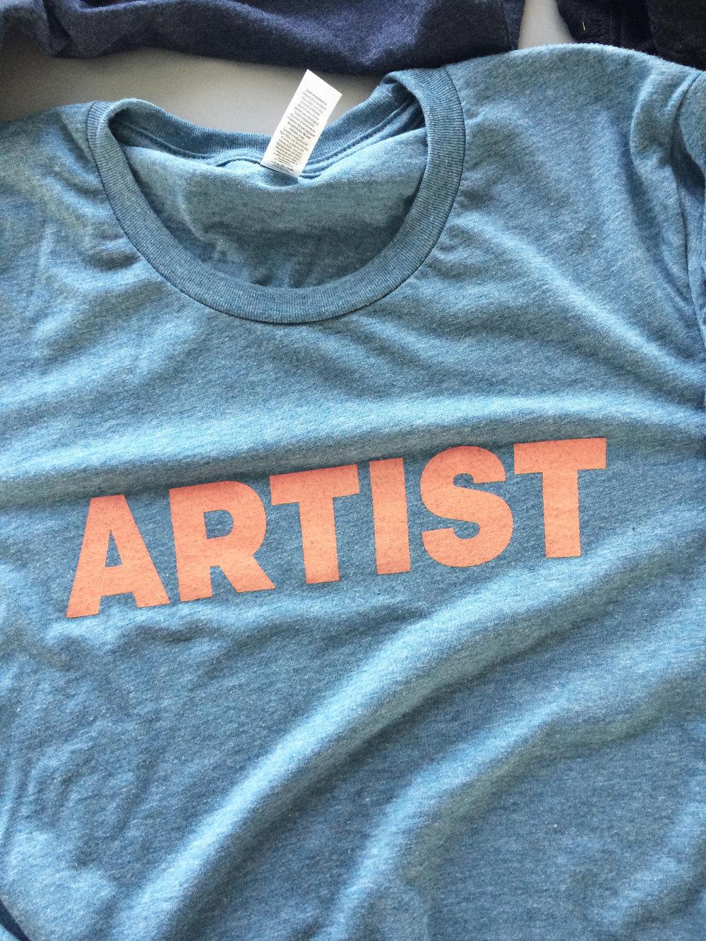 ARTIST Shirt. Soft, lightweight,  Bella + Canvas Triblend  T-shirt.  $18.00