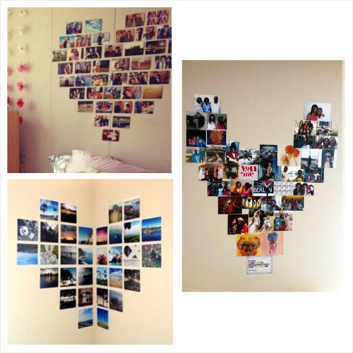 Heart display- top left: Tumblr Bottom left: Pinterest Right: The Ravel Out