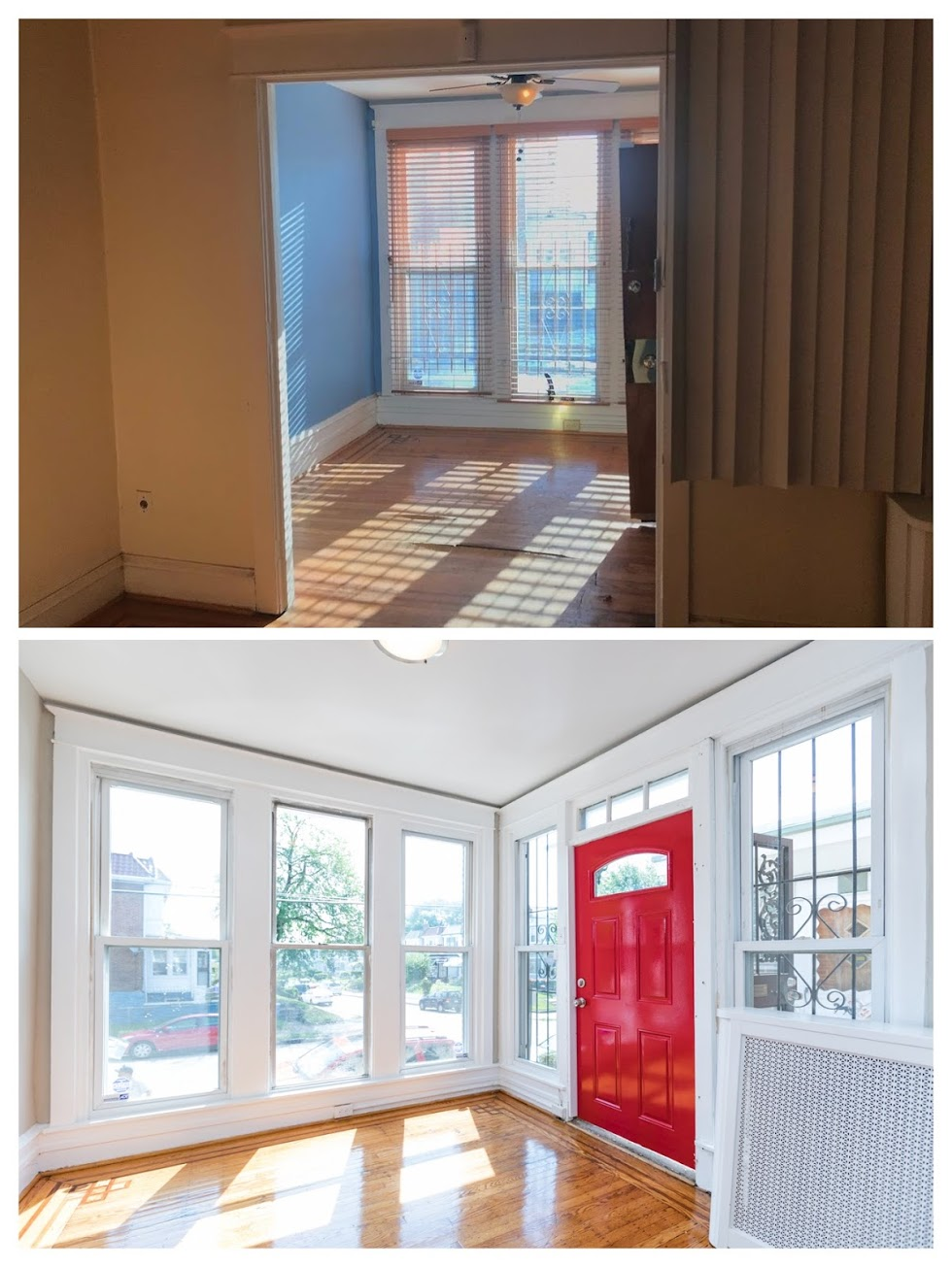BEfore and AfteR IN North-EAST Philadelphia - Glimpse of a Before and After in one of our entryways in North-east Philadelphia.