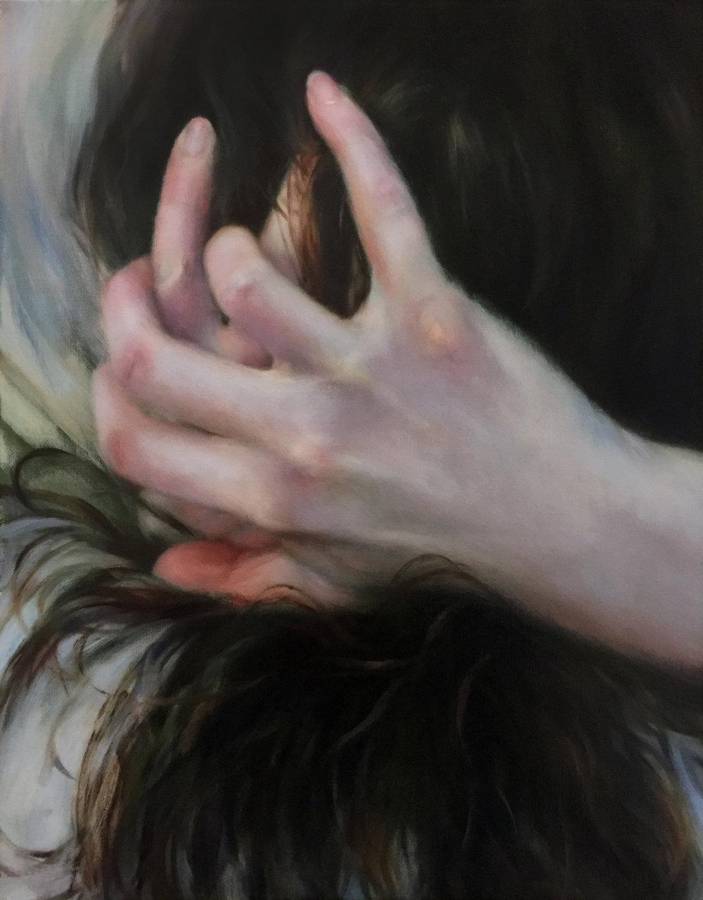 """ALL IS FAIR II  oil on canvas 18"""" x 14"""" 2016"""