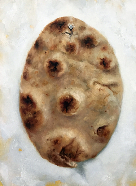 "NAAN  oil on panel 16"" x 12"" 2017"