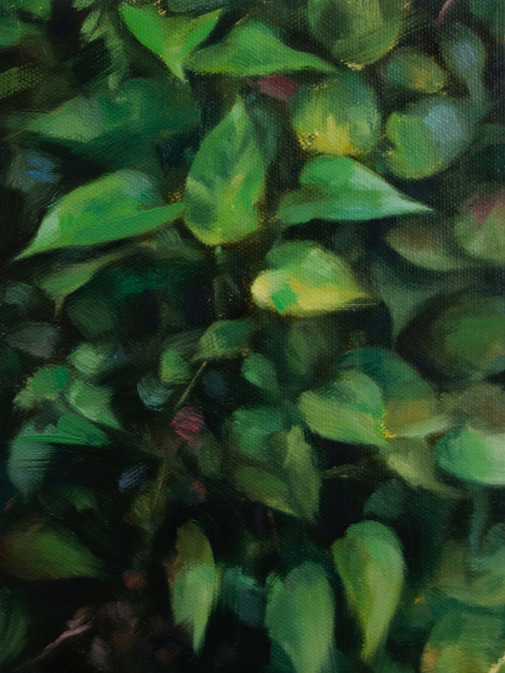 "VERTICAL GARDEN STUDY I  oil on canvas 8"" x 6"" 2018"