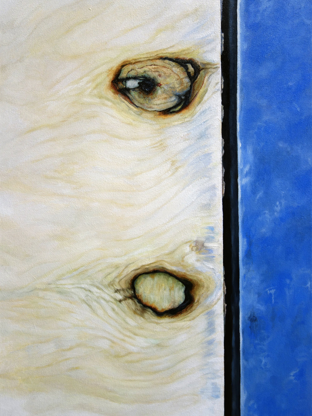 """STRIPPED  oil on canvas 24"""" x 18"""" 2012"""