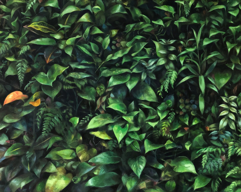 "LIVING WALL  oil on canvas 16"" x 20"" 2018"