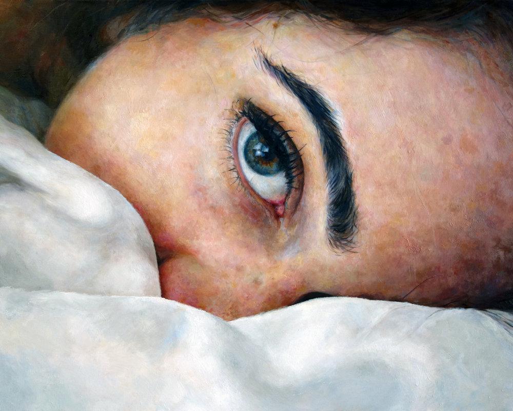 """EYE  oil on canvas 24"""" x 30"""" 2014"""