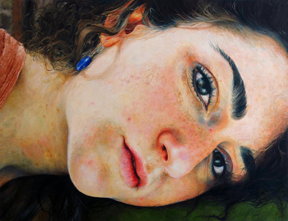 "SELF-PORTRAIT  oil on canvas 36"" x 48"" 2012"