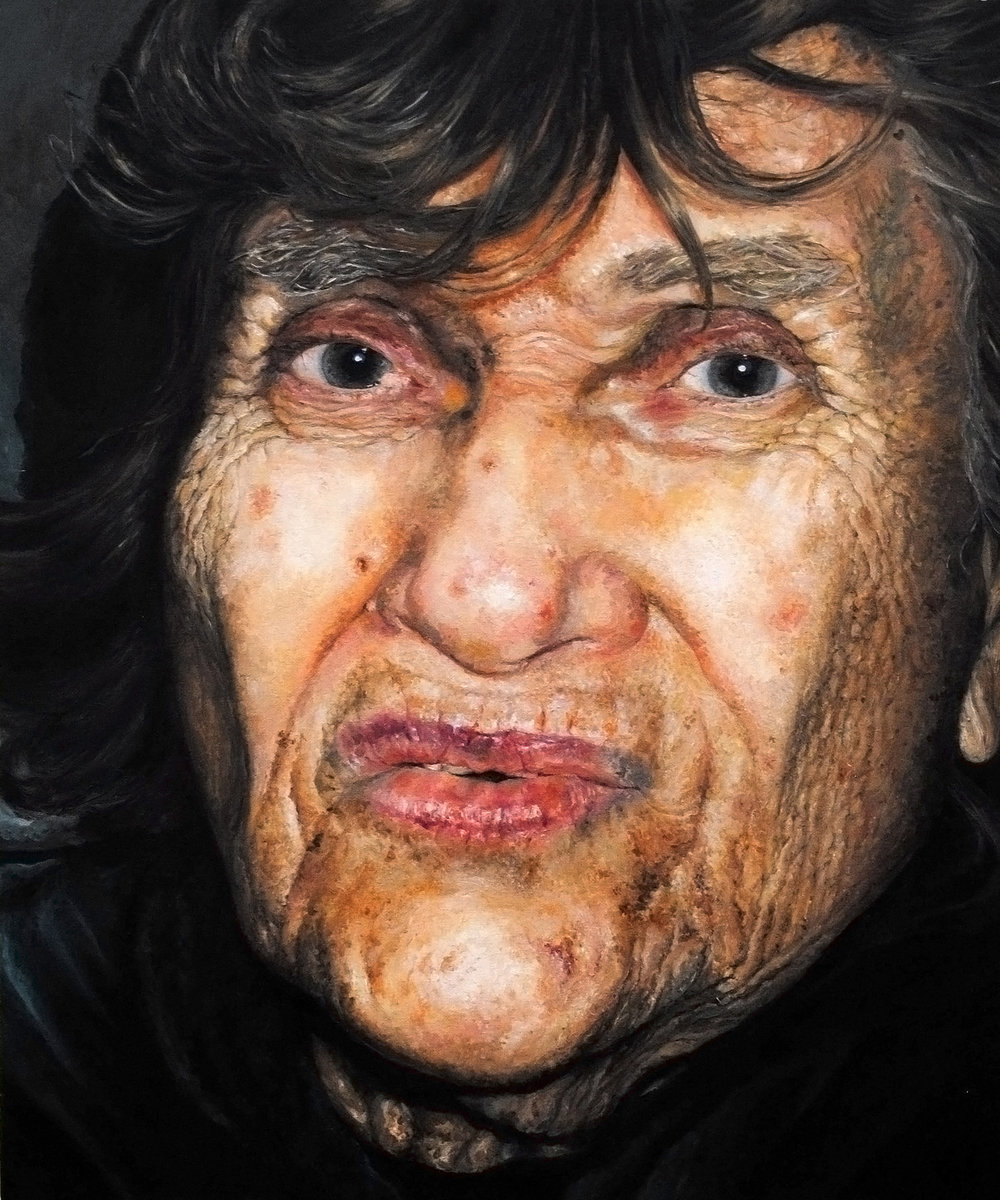 """PORTRAIT OF MY GRANDMOTHER  oil on canvas 24"""" x 20"""" 2010"""