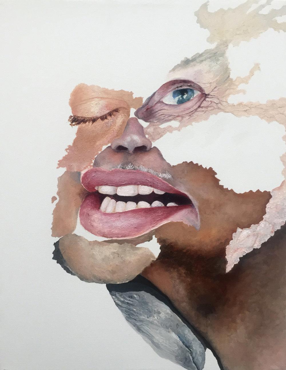 "COMPOSITE 4  oil on canvas 14"" x 11"" 2010"