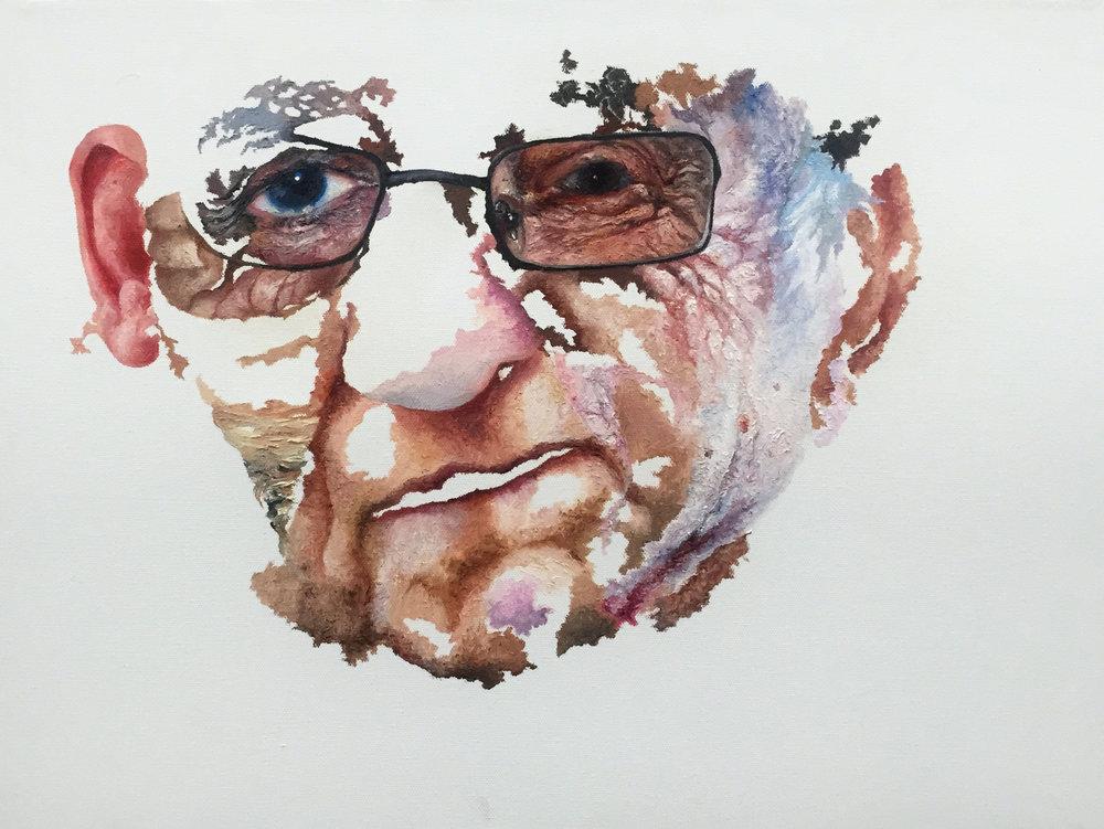 "COMPOSITE 3  oil on canvas 11"" x 14"" 2010"
