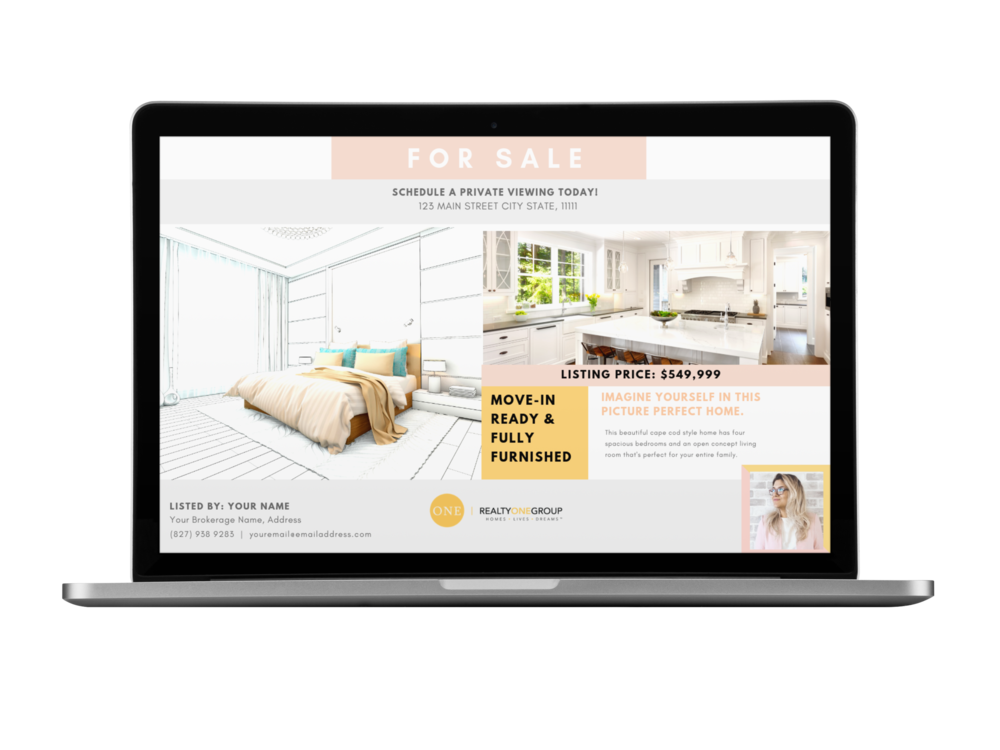 Customizable Marketing Flyers - Showcase and market your properties like a real estate boss!