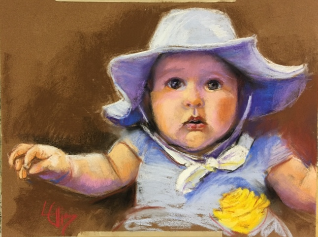 """14"""" x 11"""" pastel portrait, sold"""