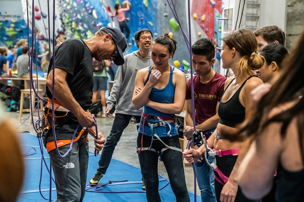 Classes - An extensive selection of classes covers everything from basic climbing and rope skills to tackling the real deal with building anchors + more. Your first intro-level class is free, then take ½ off all other climbing classes.