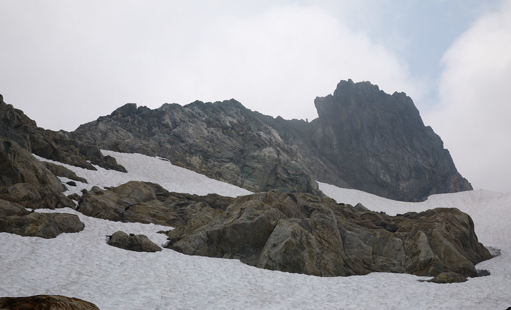 The summit in the distance.