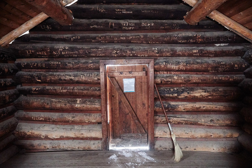 The walls of the hut were filled with the names of people that had visited, some dating back all the way to 1993.