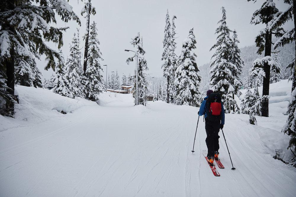 The trail begins from the Biathlon Range Parking Lot.