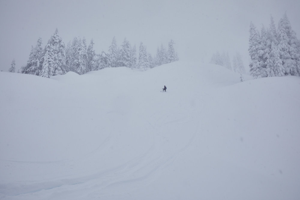 We were running out of time, but we did manage to get a few turns in before we headed back down.