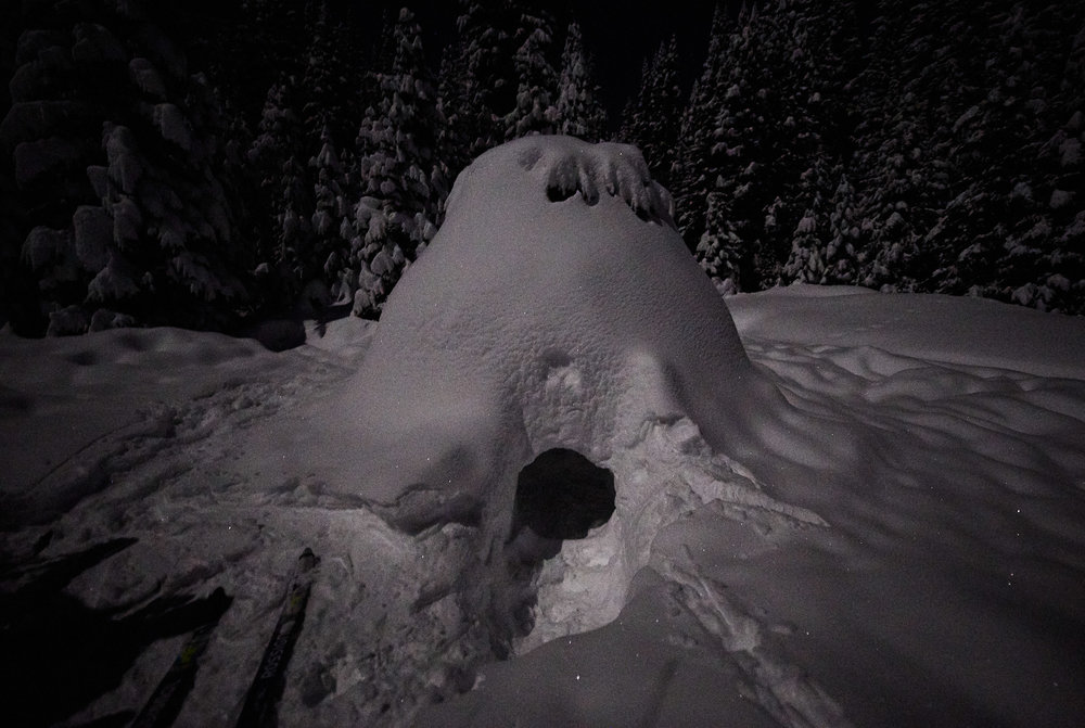 It turned out to be an igloo that someone had made!
