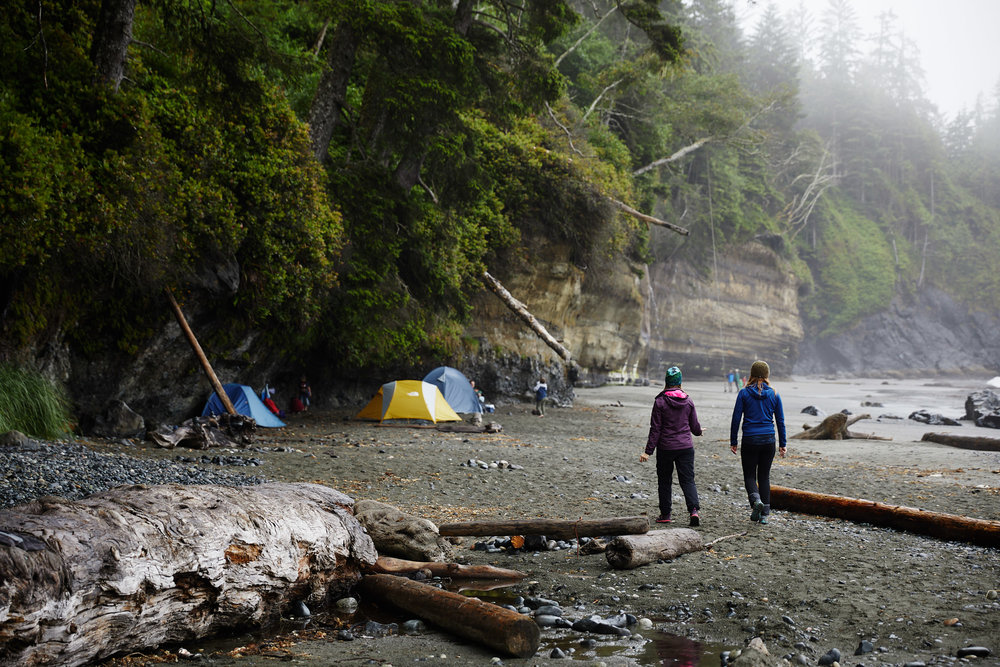 Just 2km into the trail is Mystic beach, this is one of the busier campgrounds, due to it's easy access.