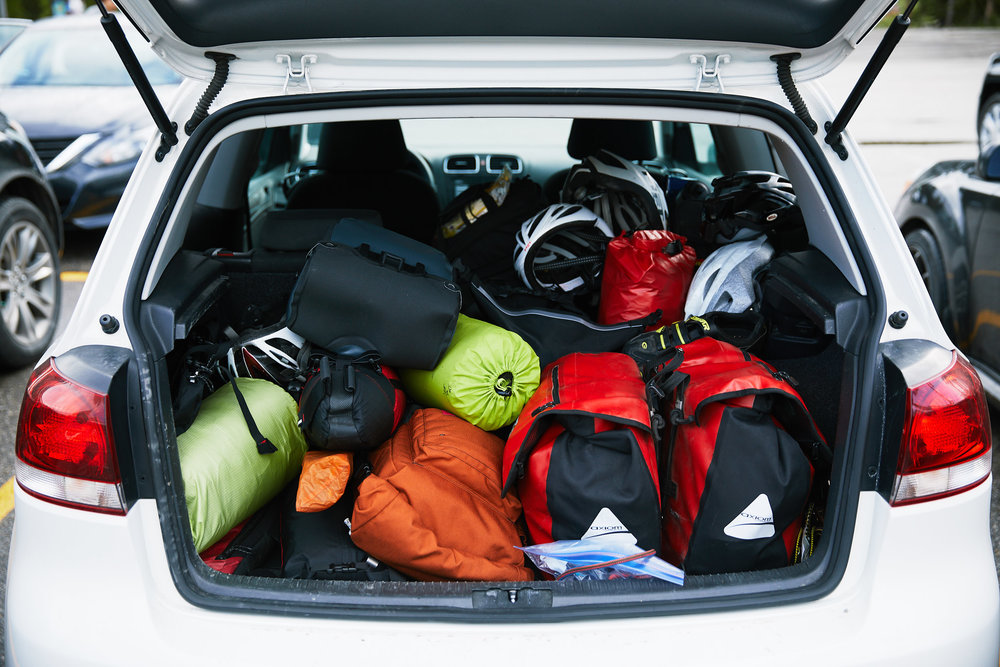 We packed up all the gear and headed for Lake Louise.