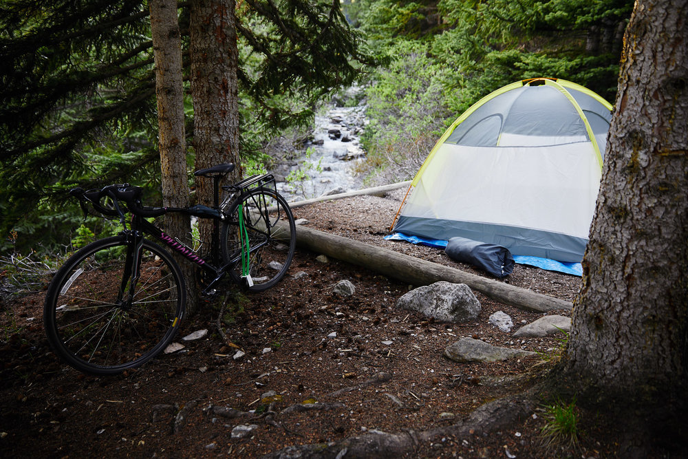 The Icefields campground was our favourite of the trip. Beautiful sites right next to the creek.