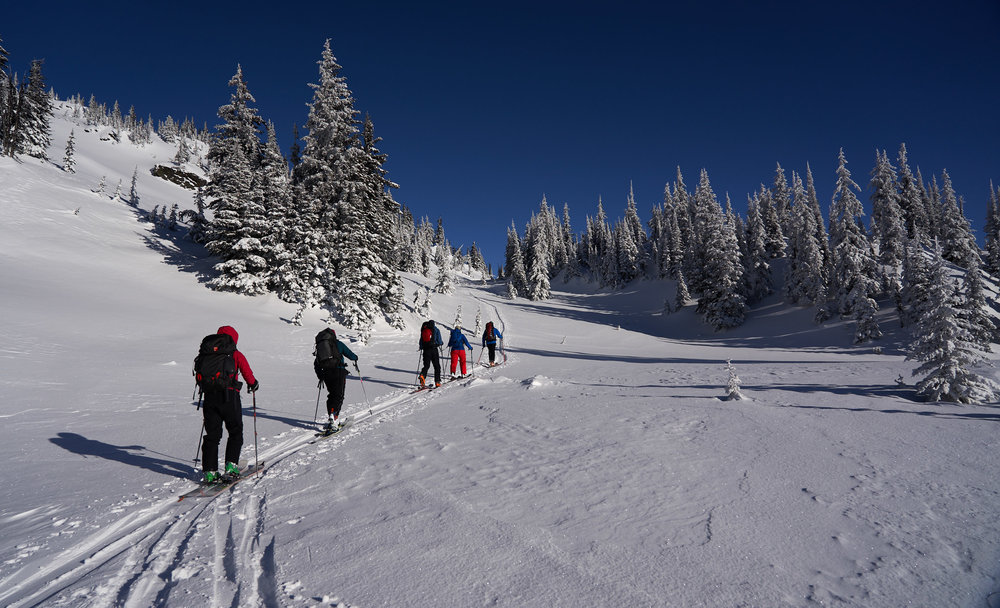 We spent the next 6 days skiing the nearby mountains.