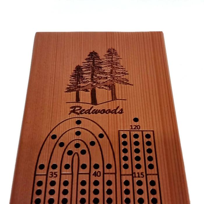 Lg Redwood Cribbage Board White Background (3).jpg