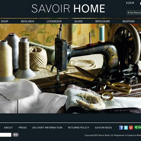Savoir Home | website design