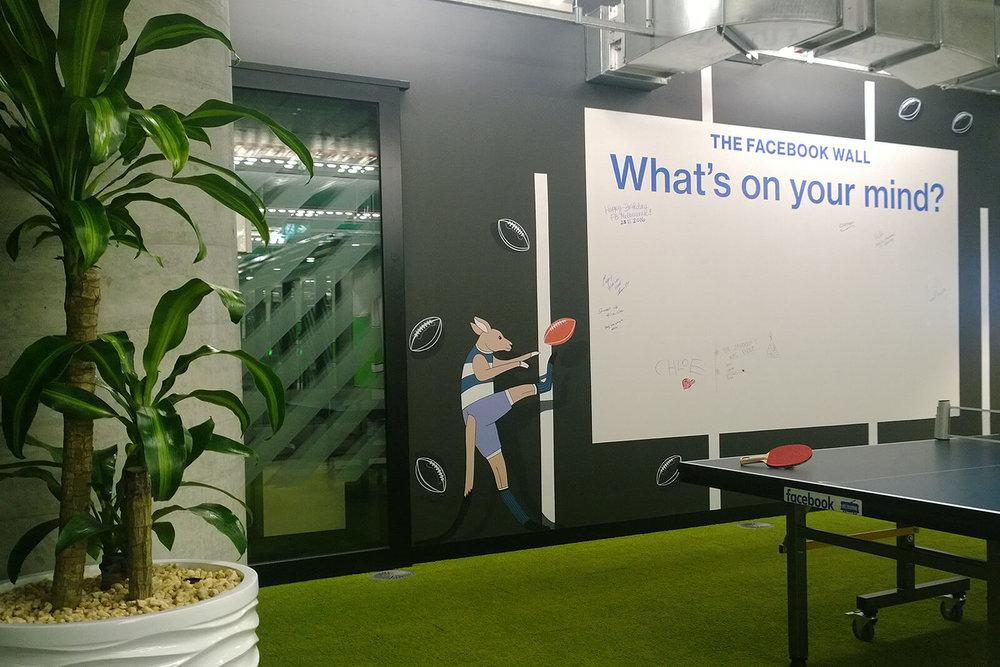 facebook office mural, melbourne