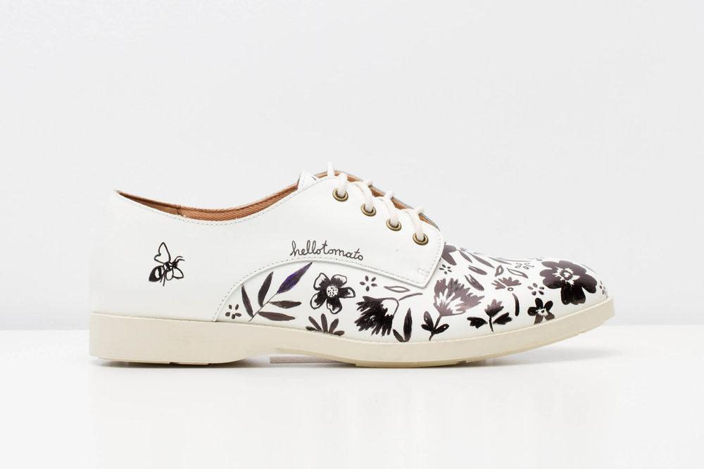 Rollie Nation floral illustrated Shoe Design