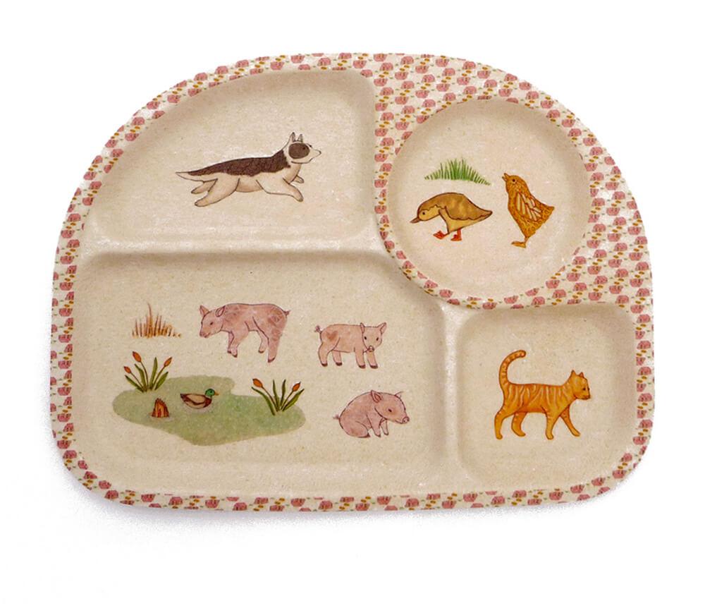love mae bamboo children's plate design
