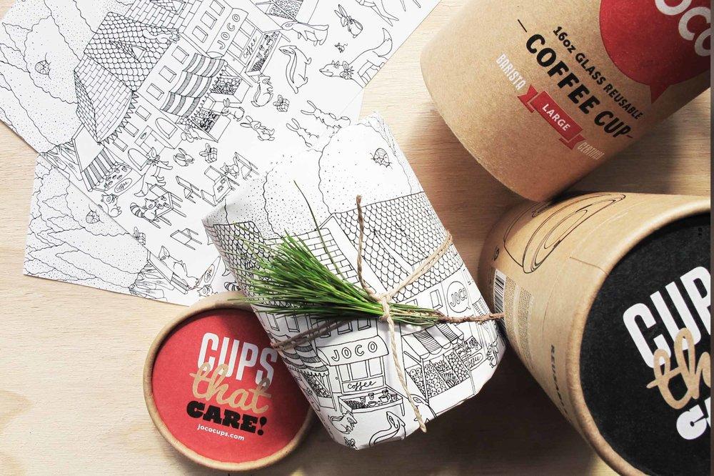 joco cups christmas gift wrap design