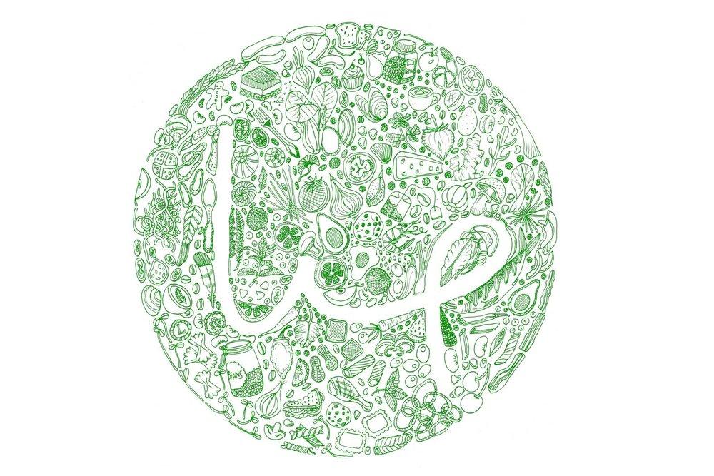 lip cafe logo design