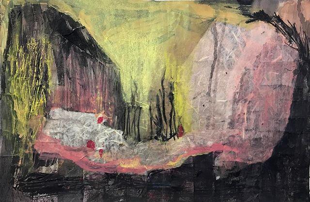 #abstractpainting #mixedmediapainting #collageart #abstractlandscape #newenglandpainting #collagepainting #wip #workinprogress