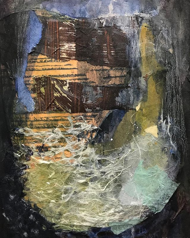 Cropped because: Instagram.  #wip #workinprogress #collage #mixedmediacollage #mixedmedia #acrylicpainting #abstractpainting #newenglandartist