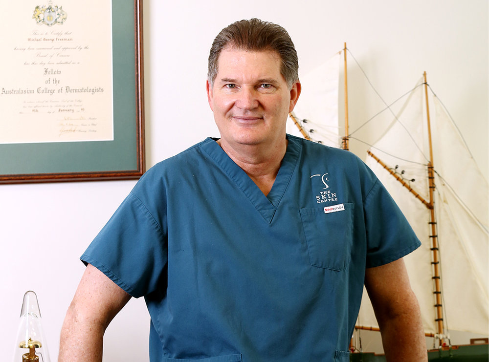 A/professor Michael Freeman - With more than 30 years experience in the medical field, Associate Professor Michael Freeman is the principal Dermatologist at The Skin Centre, specialising in cosmetic and laser Dermatology.