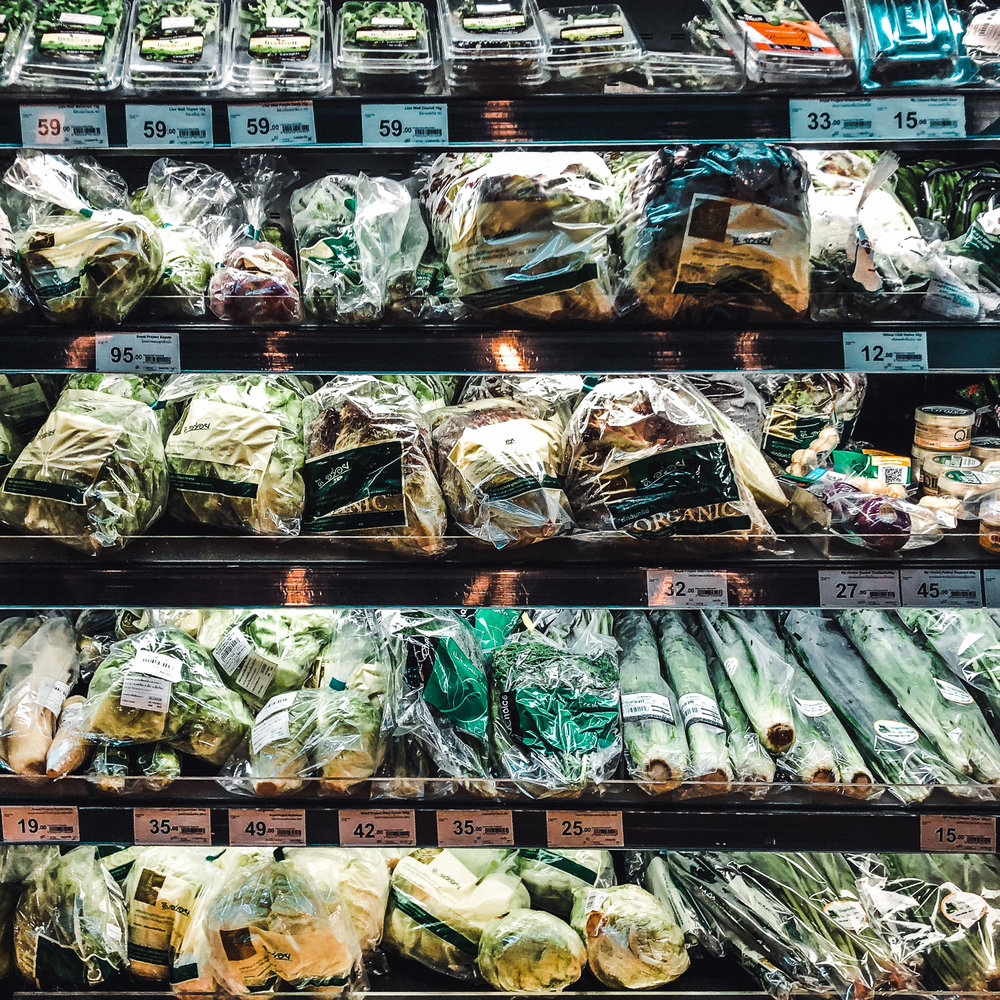 Who can spot the plastic-free produce? - Trick question, there is none.