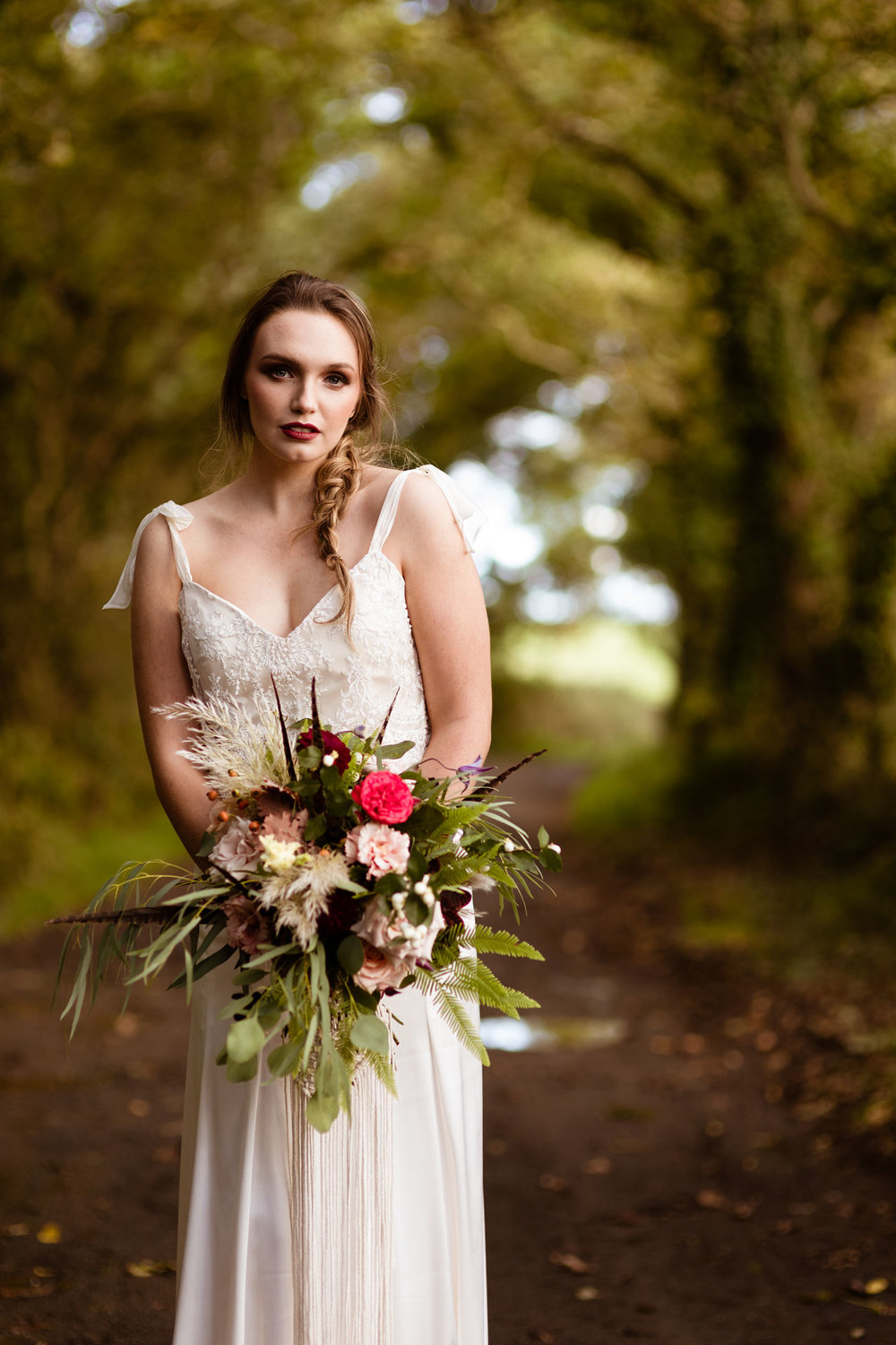 Photography: Jewell   Hair: Hair Design by Bethany   Make Up: Glampervan   Model: Heather Allen   Flowers: Heidi at The Flower Studio   Dress: Bridal House