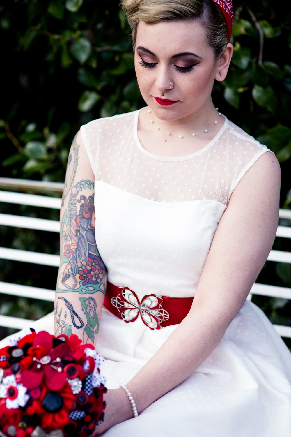 Photography: Jewell   Styling: Christine at Rock Hard Nails   Make Up: Kim Berridge   Hair: Victoria Wollin   Flowers: Heidi at The Flower Studio   Model: Hannah Quilliam