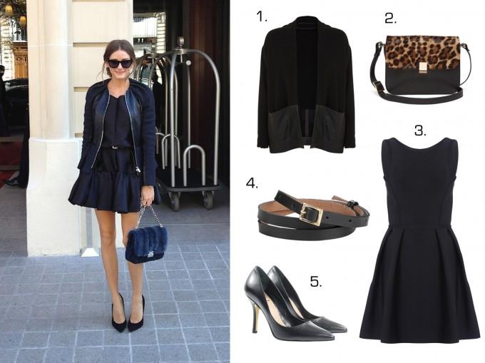 Olivia Palermo style - black dress