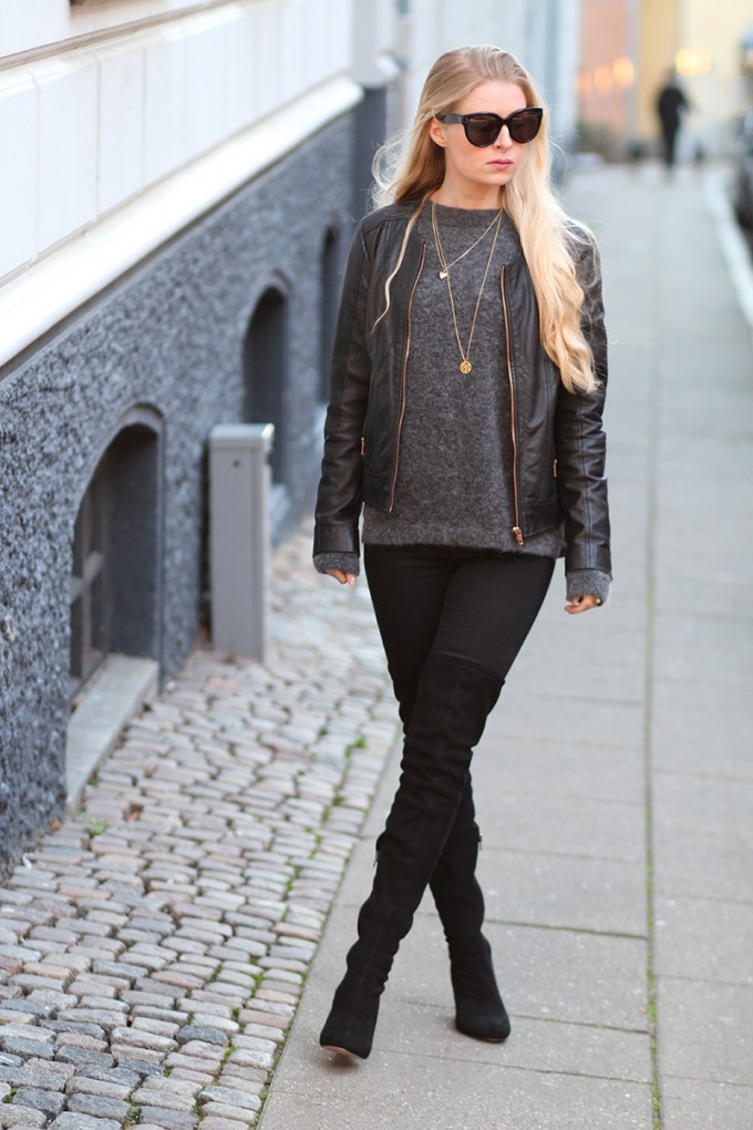 Jane Konig necklace + ASOS boots Amy Dyrholm