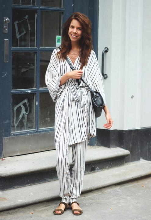 Wewonder Kimono + bukser Pieces Top inden under fra Custommade