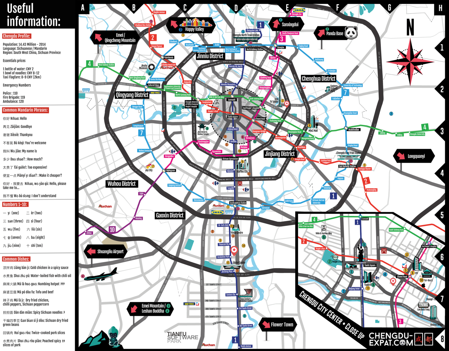 Chengdu-Expat City Map — Lucy Magris on