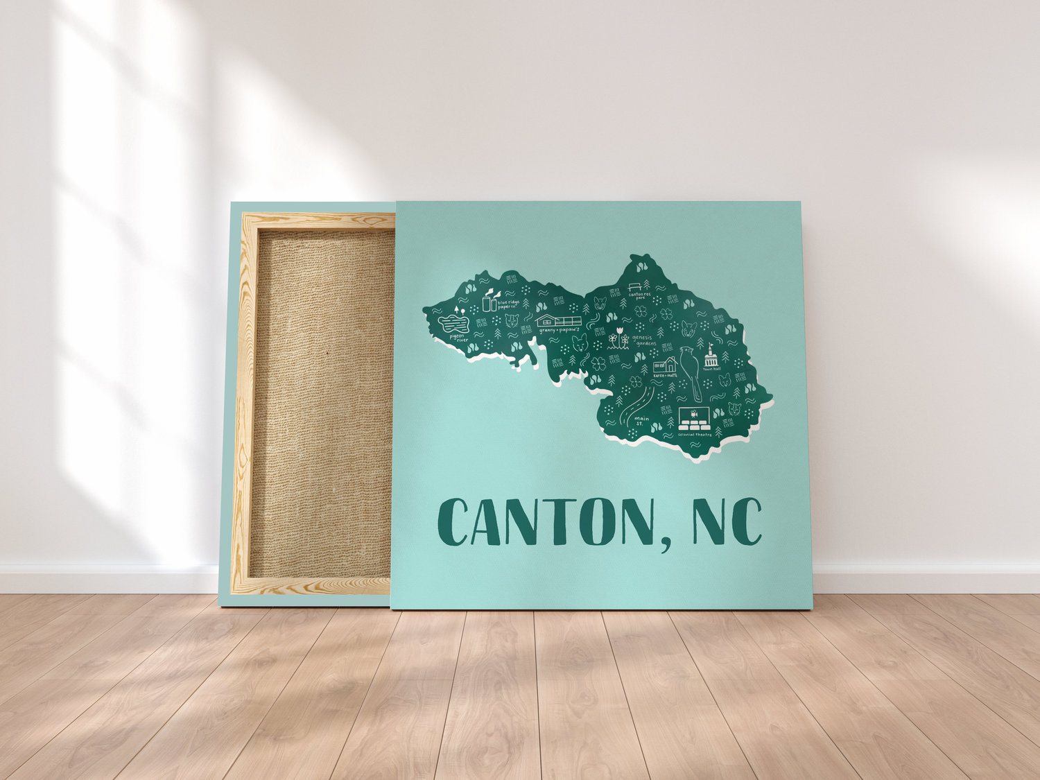 Canton Nc Illustrated Map Anna Milner