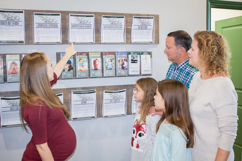 Tour The Office - After filling out your New Practice Member Health Application, we will take you on a quick and educational tour of the office. We want you to feel right at home when you're with us and have a better understanding of neurologically-based chiropractic care for the entire family.