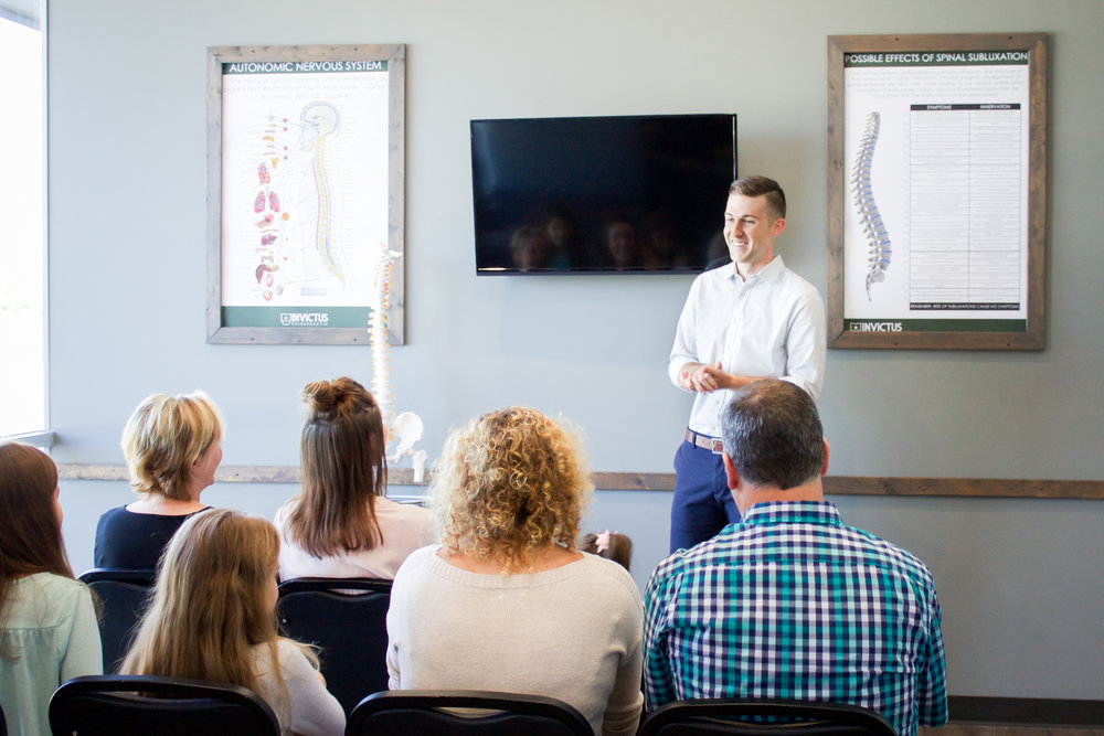 New Practice Member Orientation - Your second visit with us begins with our New Practice Member Orientation. During this orientation, Dr. Daryn presents more in-depth information on neurologically-based chiropractic care and how it relates to the health of you and your family. Our team will then review findings from your assessment and x-rays, and discuss Dr. Daryn's recommendations for care.