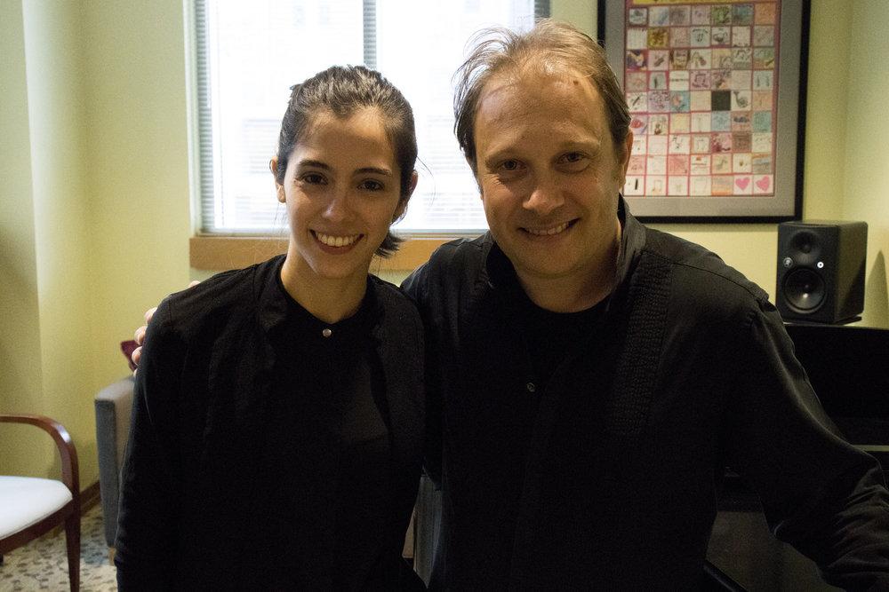 Gabriela Garza with Maestro Ludovic Morlot